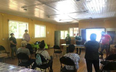 Alcalde Valdivia y dirigentes de Choshuenco se reunieron para resolver aspectos técnicos del sistema de drenaje que evitará el colapso de fosas sépticas en Villa La Esperanza