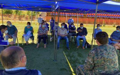 Alcalde Rodrigo Valdivia convocó a dirigentes junto al General de Zona a reunión de coordinación ciudadana y medidas preventivas del Covid-19