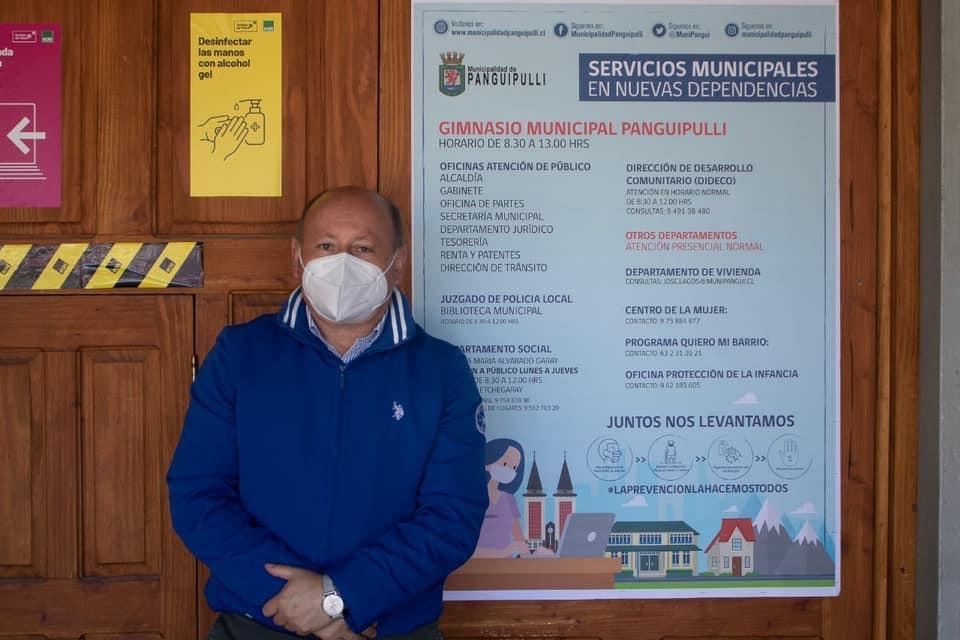 Alcalde Valdivia confirma el funcionamiento del 100% de las atenciones y servicios de la Municipalidad de Panguipulli